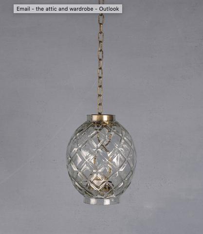 Hanging Glass Lantern Harlequin