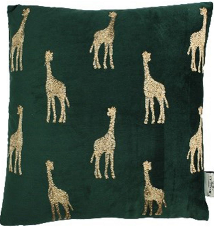 Velvet Giraffe Cushion