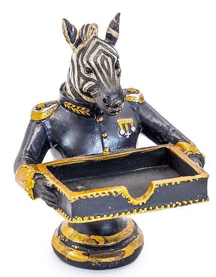 Gentry Zebra Card Holder/Sweet Tray