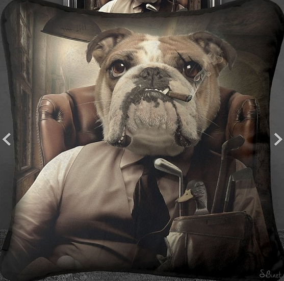 Bulldog Mafia Cushion