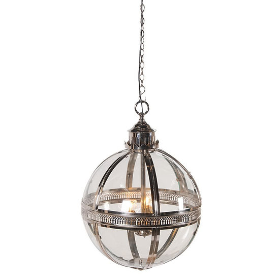 Large Silver Glass Ball Light