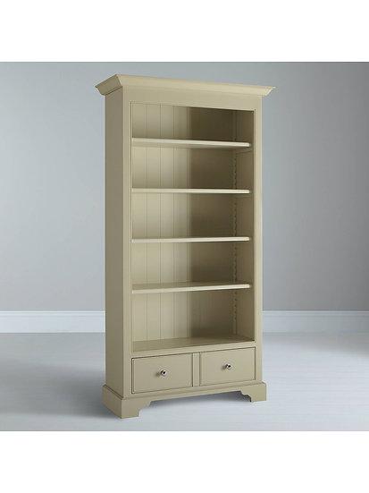 Neptune Chichester Full Height Bookcase, Limestone