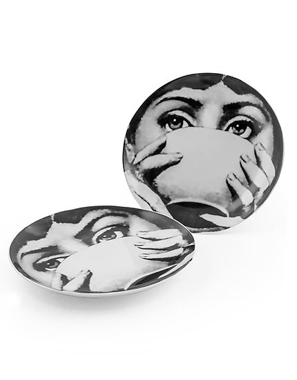 Lady Face Cup Plate