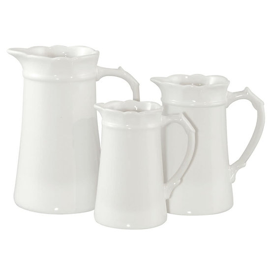 Ceramic White Jug Medium
