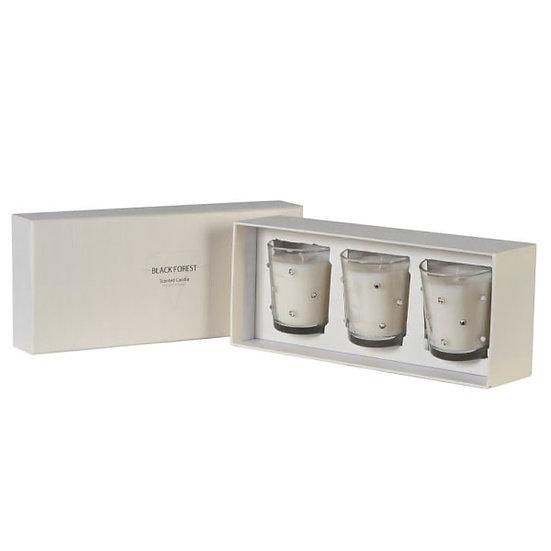 Set of 3 Diamante Candles