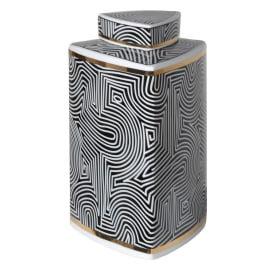 Small Black and White Tri-jar