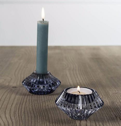 Glass Candleholder Blue