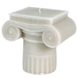 Roman Pillar Candle (off white)