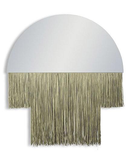 Boho / Art Deco Mirror with Gold Fringe