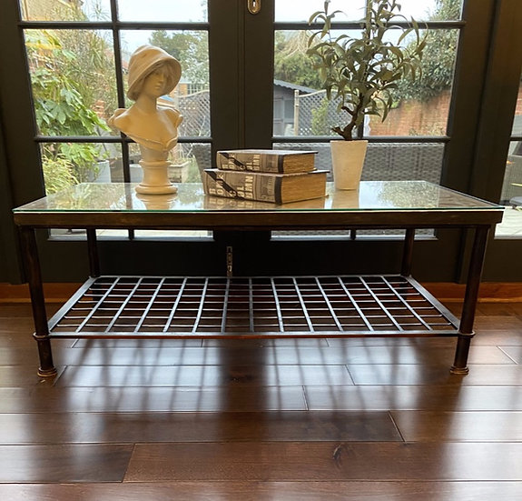 Decorative Concrete and Iron Table