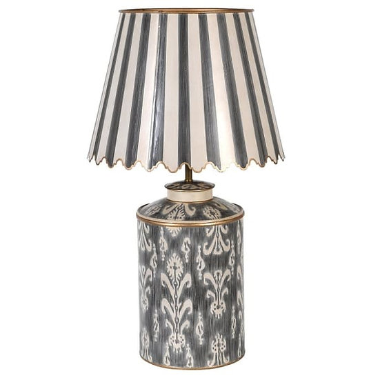 Lamp with Scalloped Shade