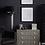 Thumbnail: Stunning Metal Floor Lamp In Nickel Finish With Black Shade