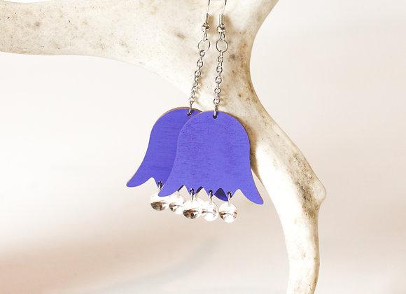Korvakorut Urbi (nuppu) sinilila