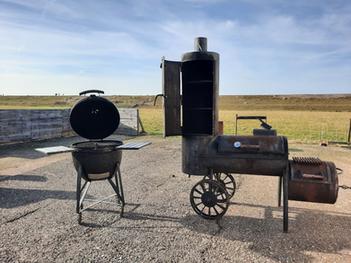 Oklahoma smoker en kamado