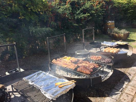 Grote groepen barbecuen