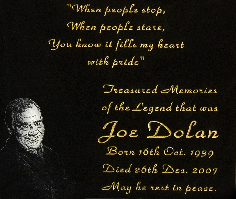 Joe Dolan Plaque