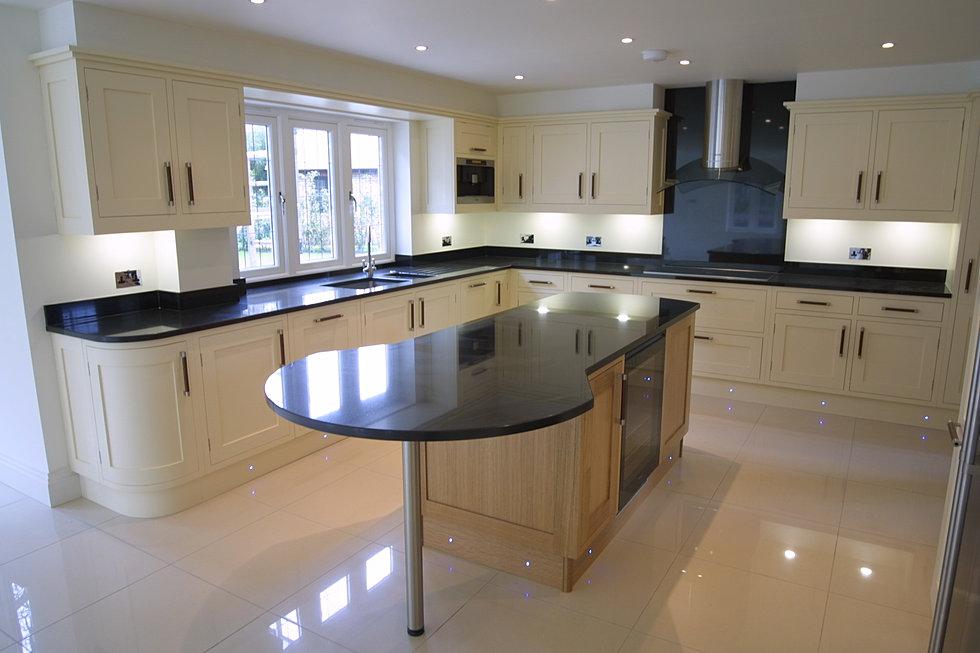 White Kitchen Units Black Worktop o'brien marble & granite