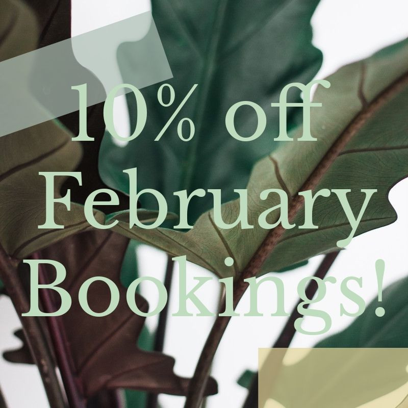 10% off all February bookings with L McEwen Photography