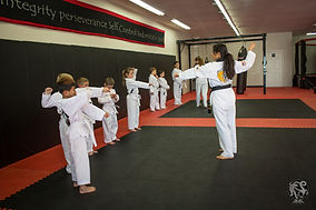 Master Debbie Lovas Instructing White Belts