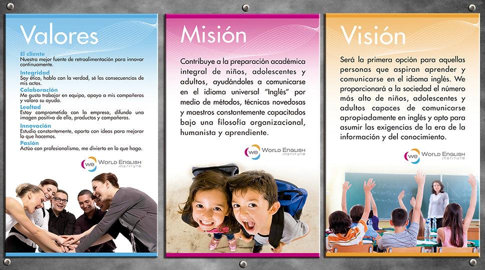 Valores Institucionales World English Institute Ecuador