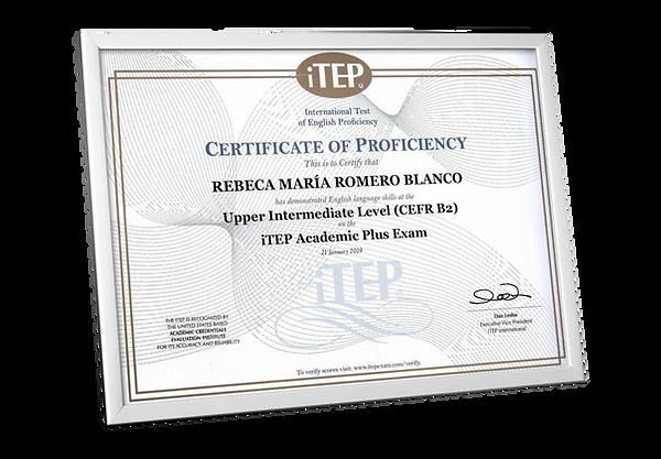 World English iTEP Academics Certificado Ecuador
