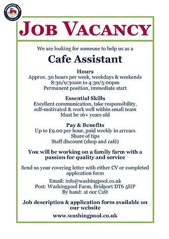 Job Ad - Cafe Assistant Sep21.jpg