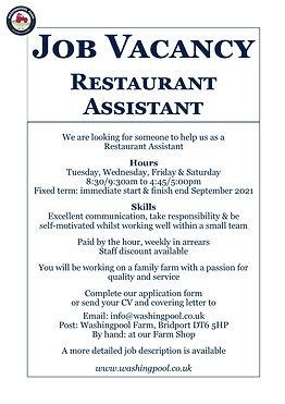 Job Ad - Restaurant Assistant Jul21.jpg