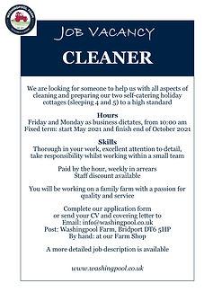Job Ad - Hol Cot Cleaner May21.jpg