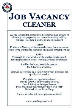 Job Ad - Hol Cot Cleaner Jul21.jpg