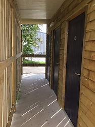Shower and toilet block at Washingpool Caravan Site