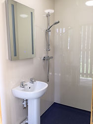 Washingpool Caravan Site shower room