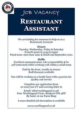 Job Ad - Restaurant Assistant Jun21.jpg