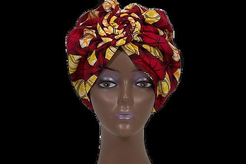 """Ruby""African Head Wrap (Pre-Tied)"