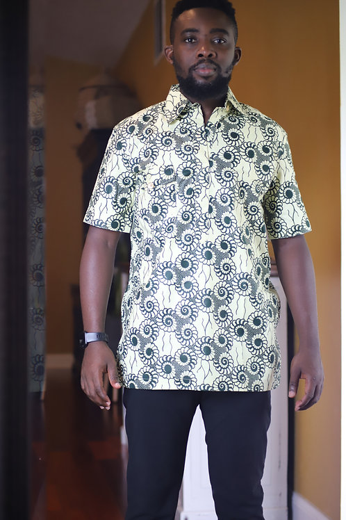 """Ade""African Print Button Up"