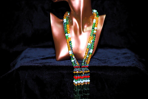 Royal Green Ghana Drop Necklace