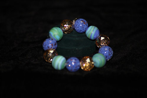 Blue and Turquoise Ghana Bracelet