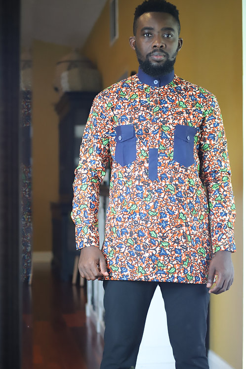 """Ankrah"" African Print Long Sleeve"