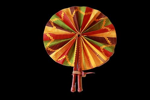 Yellow Kente Fan