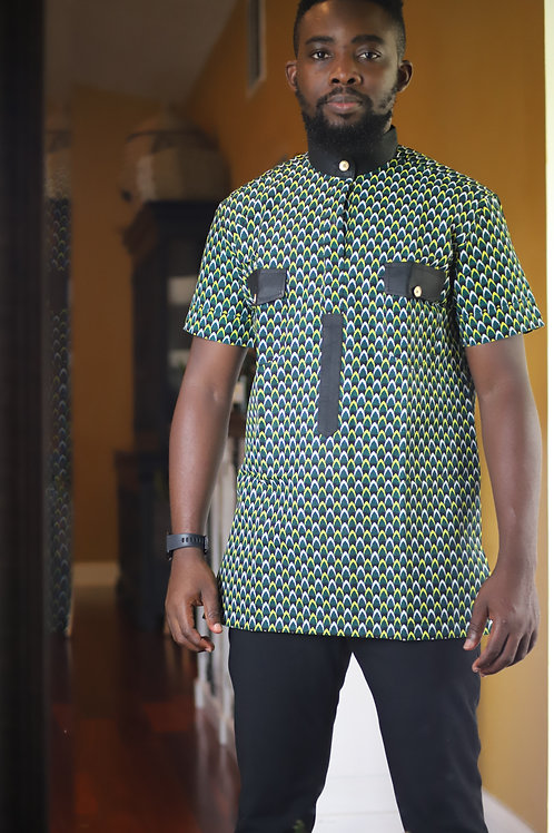 """Sleek"" Men's Collar African Wear"
