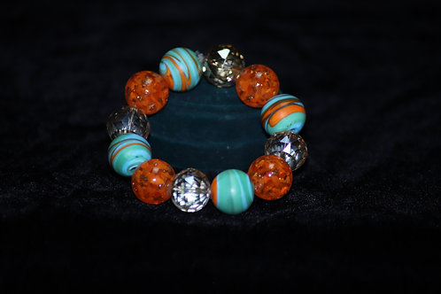 Red and Turquoise Ghana Bracelet