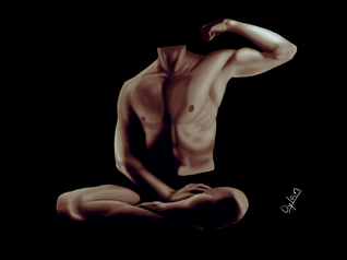 Self Body Portrait (Coloured)