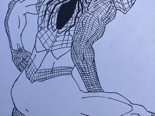 Spider-Man (Ink on Paper)