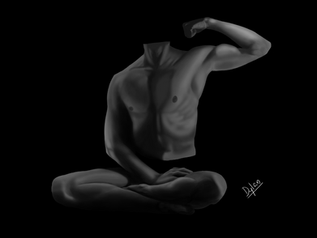 Self Body Portrait (Black & White)