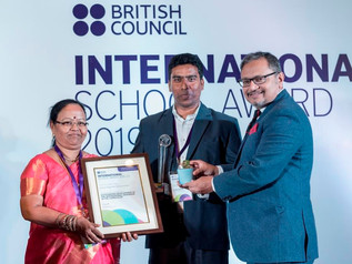 Received The International School Award Trophy