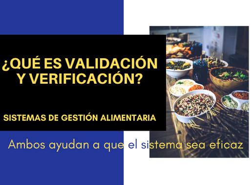 Validación y verificación en sistemas de gestión alimentaria
