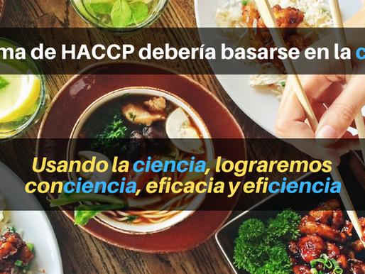 ¿En qué se debe soportar HACCP?