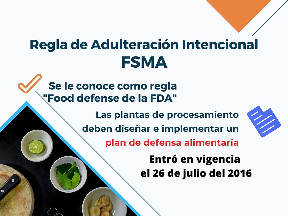 Estrategias de mitigación contra adulteración intencional-Food defense