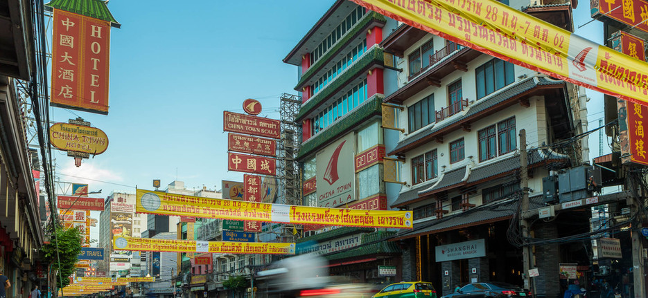 moped at Chinatown Bangkok