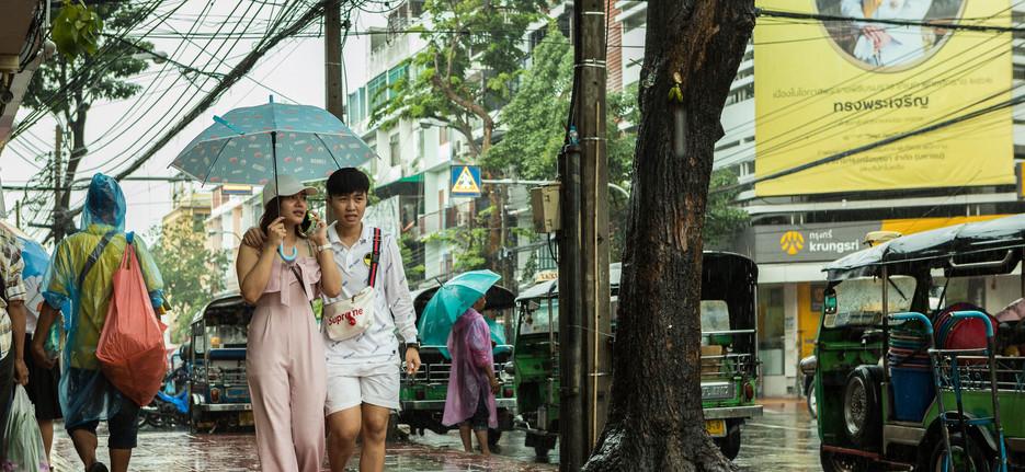 Thailand, Bangkok Rain