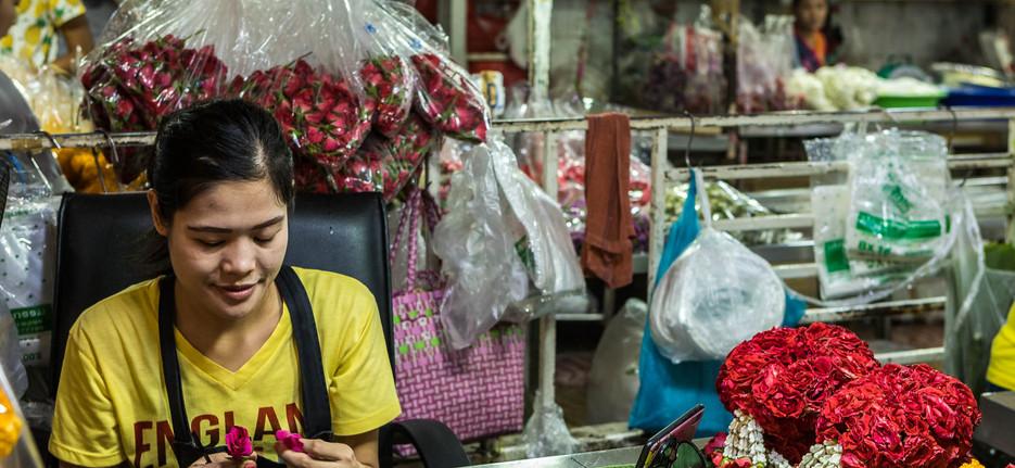 Flowermarket Bangkok Thailand